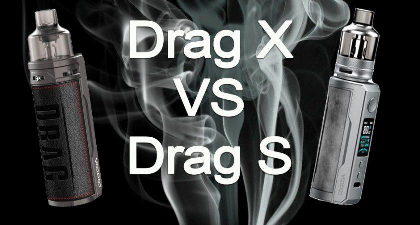 Quelle est la différence entre le pod Drag X et Drag S de chez Voopoo ?