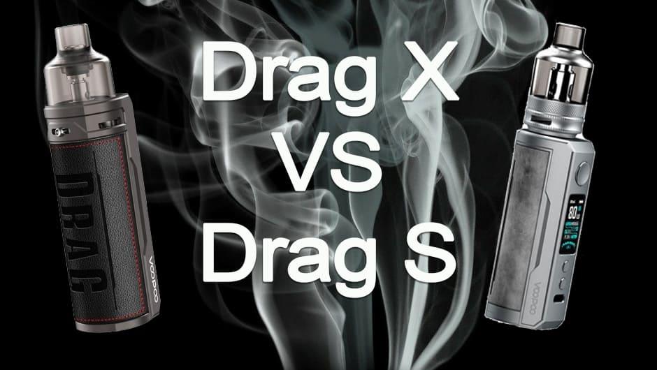 Comparaison Voopoo Drag X et Drag S